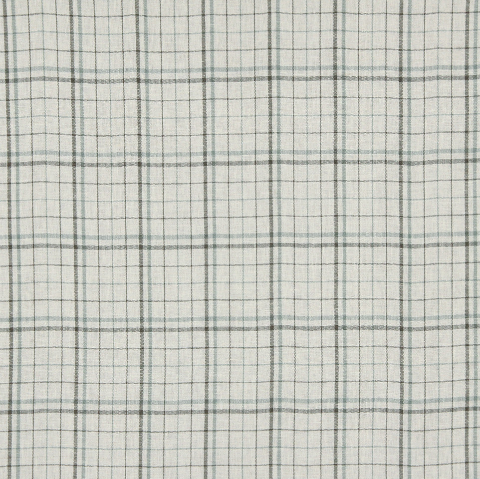 LINEN STRIPES & PLAIDS Sweet Honesty Fabric - Stream