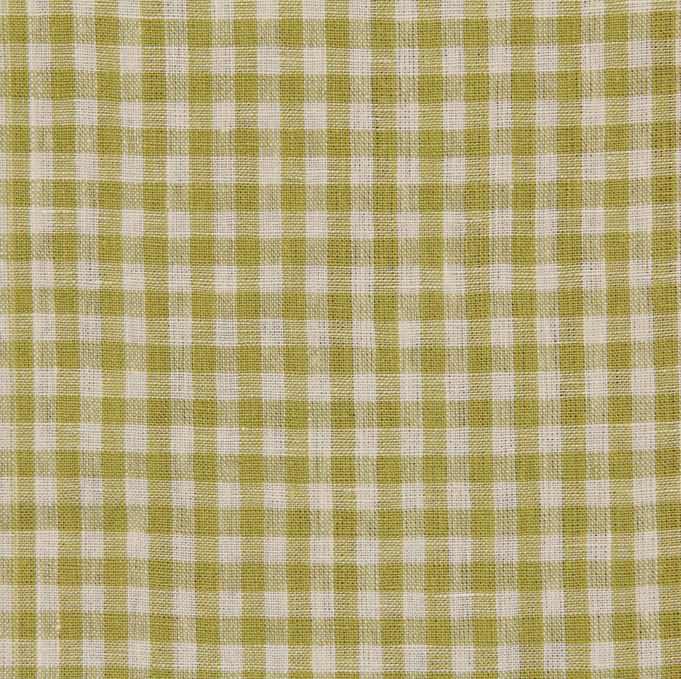 LINEN STRIPES & PLAIDS Petit Check Fabric - Kiwi