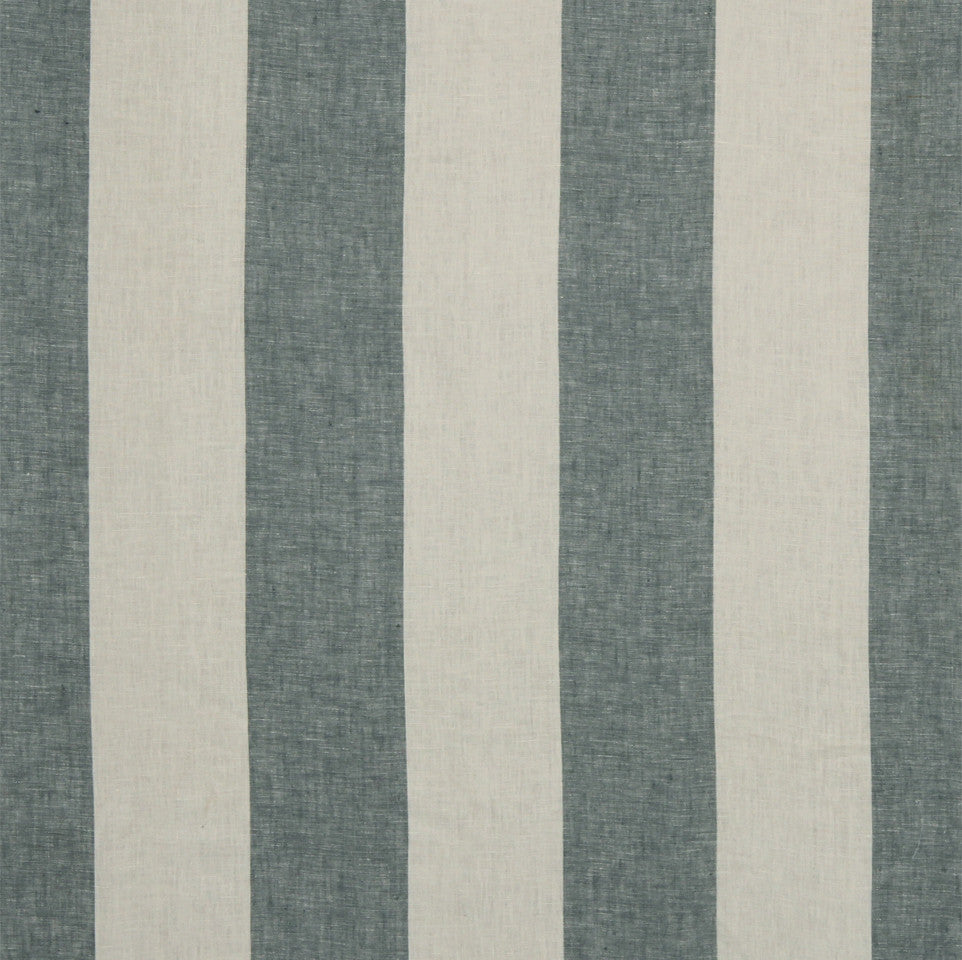 LINEN STRIPES & PLAIDS Grande Stripe Fabric - Indigo