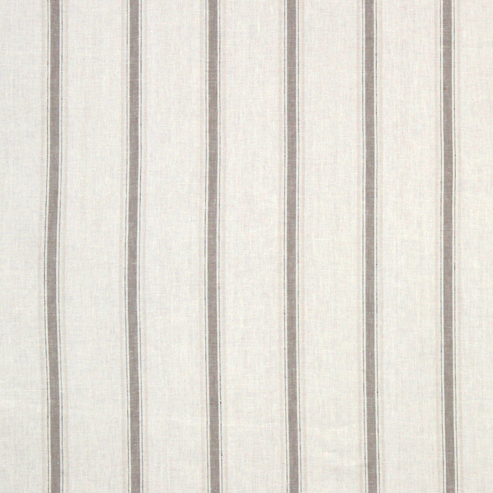 LINEN STRIPES & PLAIDS Inner Lines Fabric - Greystone