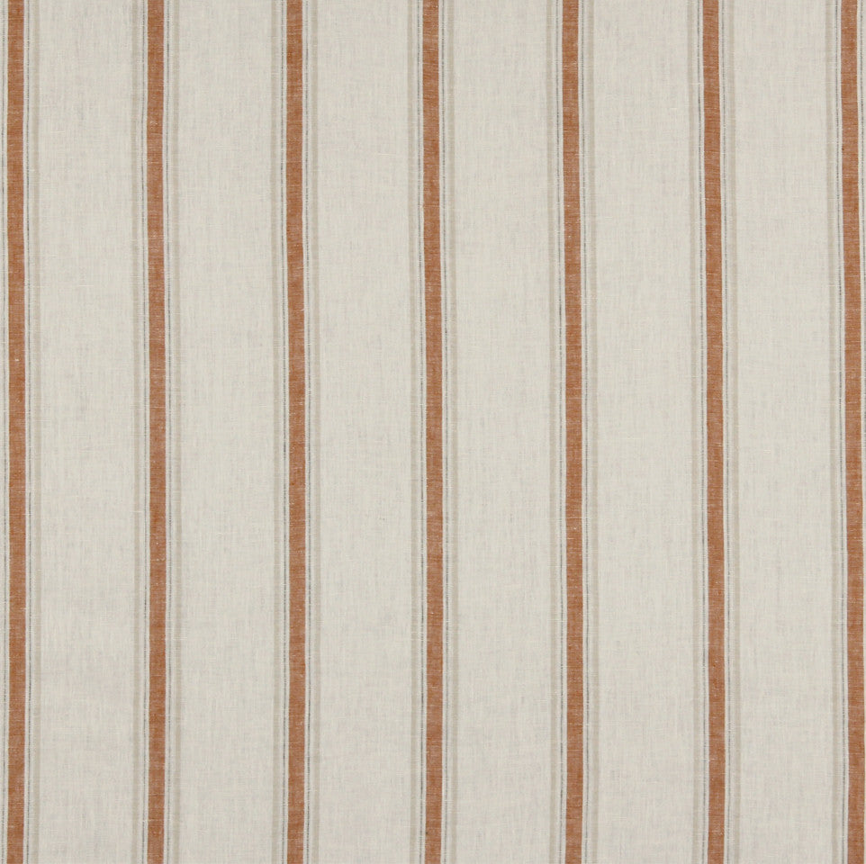 LINEN STRIPES & PLAIDS Inner Lines Fabric - Cinnabar