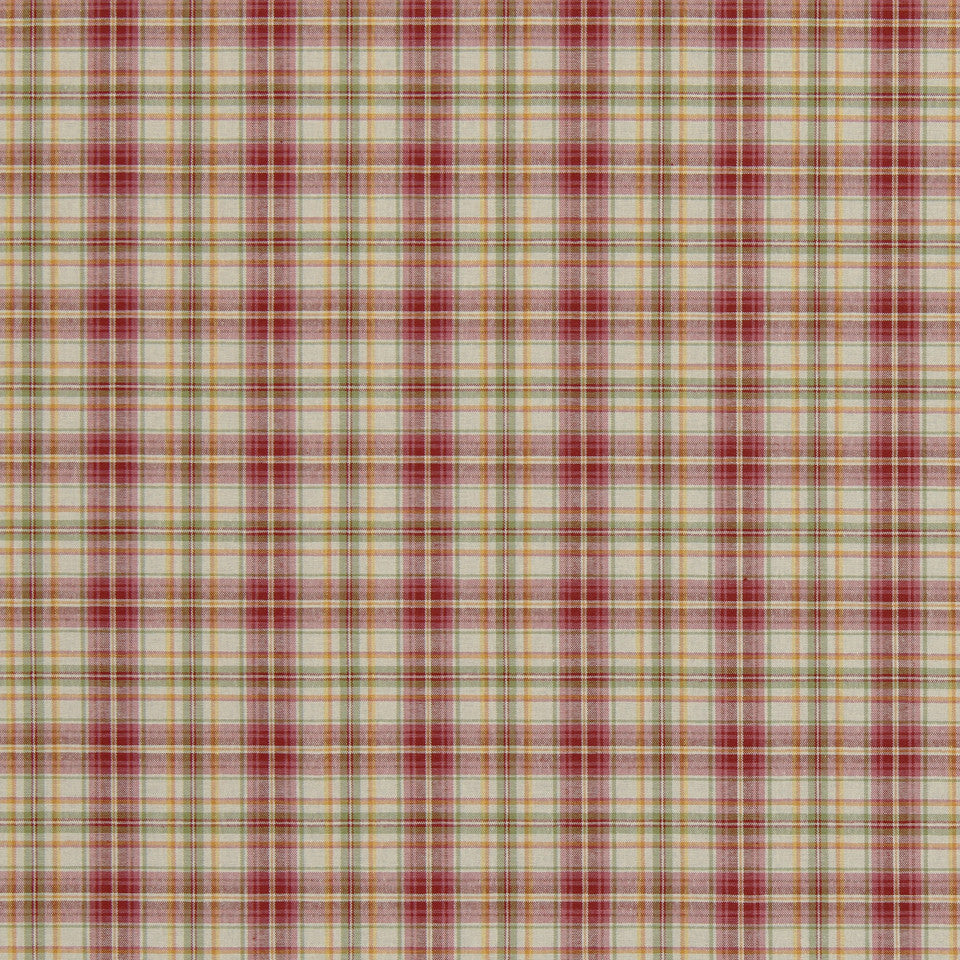 SUNSET-HENNA-BERRY Brite Plaid Fabric - Tulip