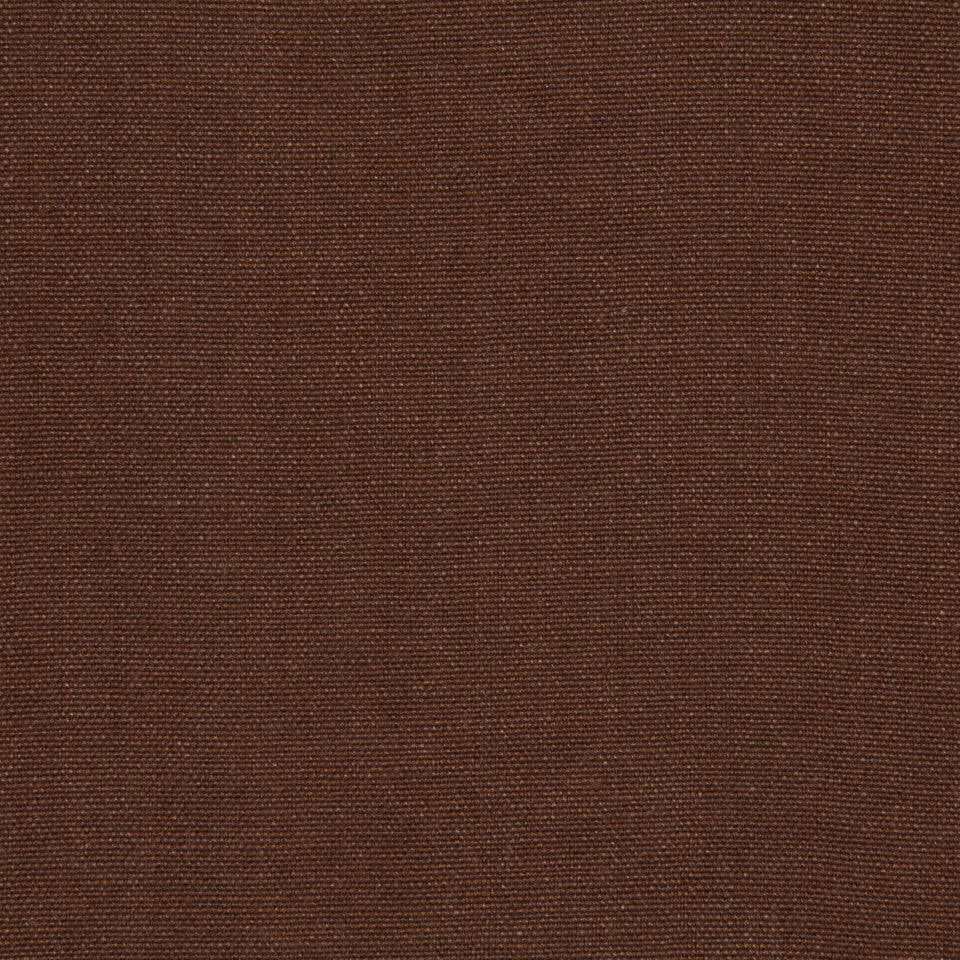 LINEN, WOOL AND CASHMERE SOLIDS Brussels Linen Fabric - Leather Brown