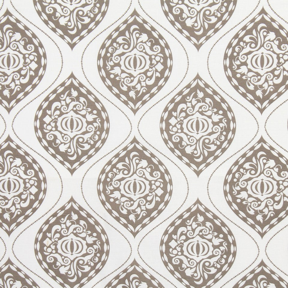DWELLSTUDIO GLOBAL MODERN LUXE Ogee Fabric - Brindle