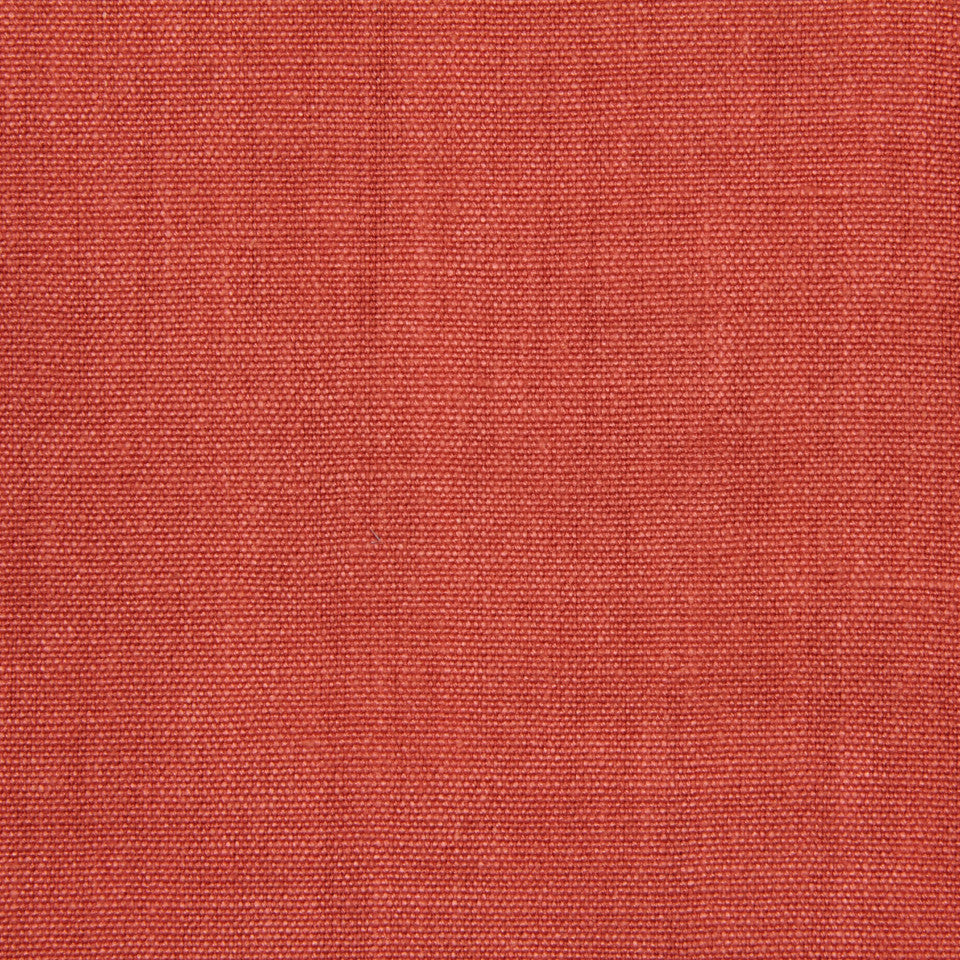 LINEN, WOOL AND CASHMERE SOLIDS Brussels Linen Fabric - Coral