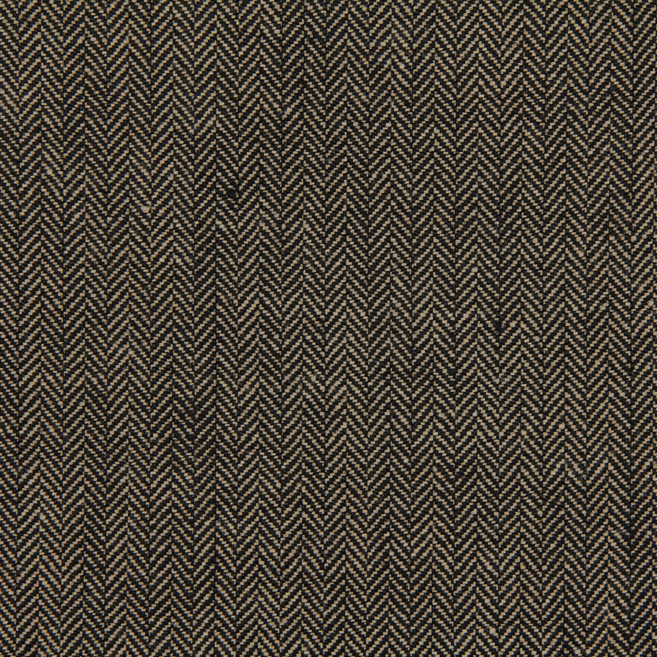LINEN, WOOL AND CASHMERE SOLIDS Rush Reed Fabric - Black Linen