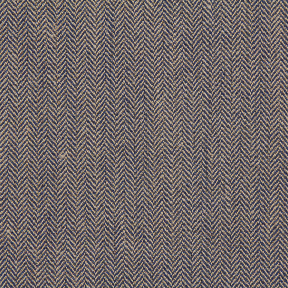 LINEN, WOOL AND CASHMERE SOLIDS Rush Reed Fabric - Maritime Blue