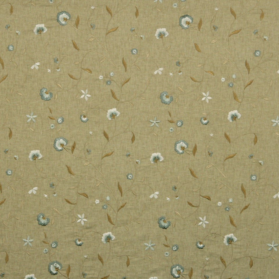 COOL Vine Blossom Fabric - Brown Sugar
