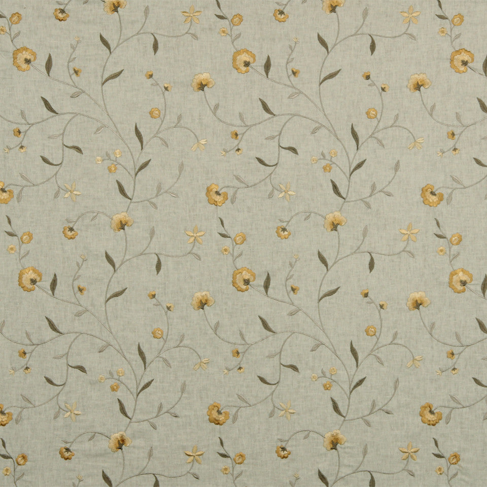 WARM Vine Blossom Fabric - Honeysuckle