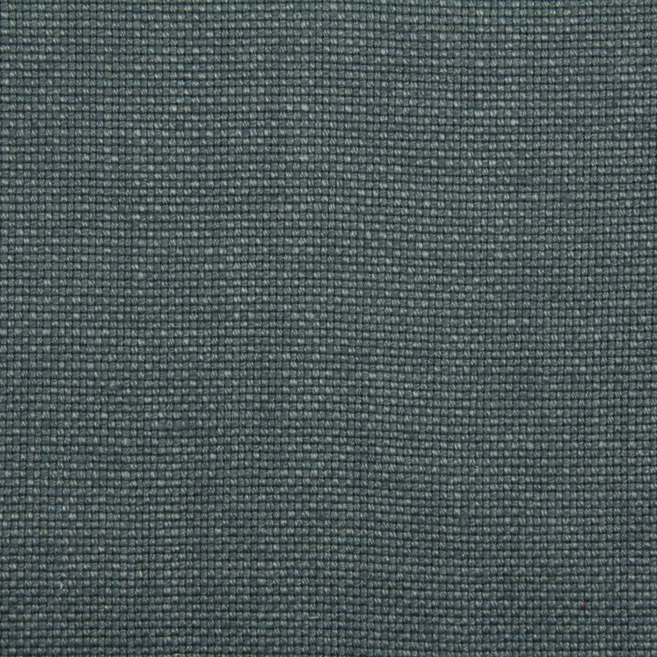 LINEN, WOOL AND CASHMERE SOLIDS Linen Basket Fabric - Aegean