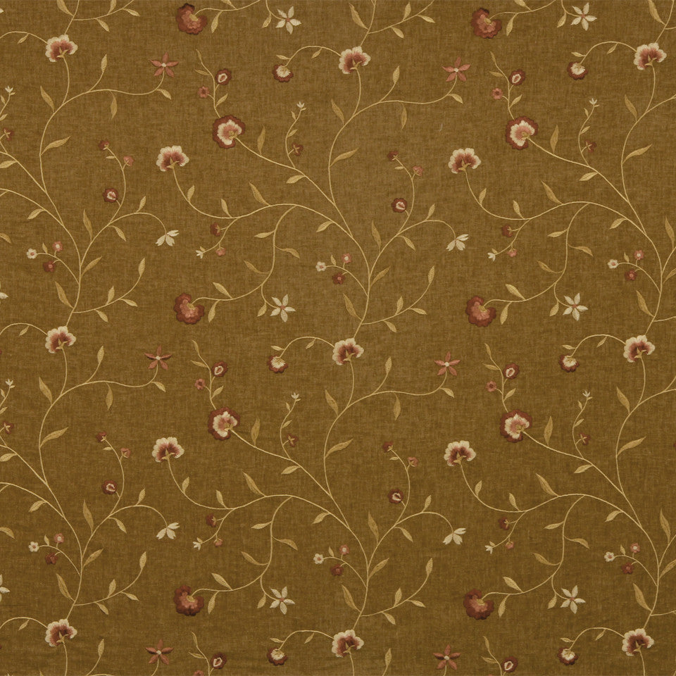 WARM Vine Blossom Fabric - Rosewood