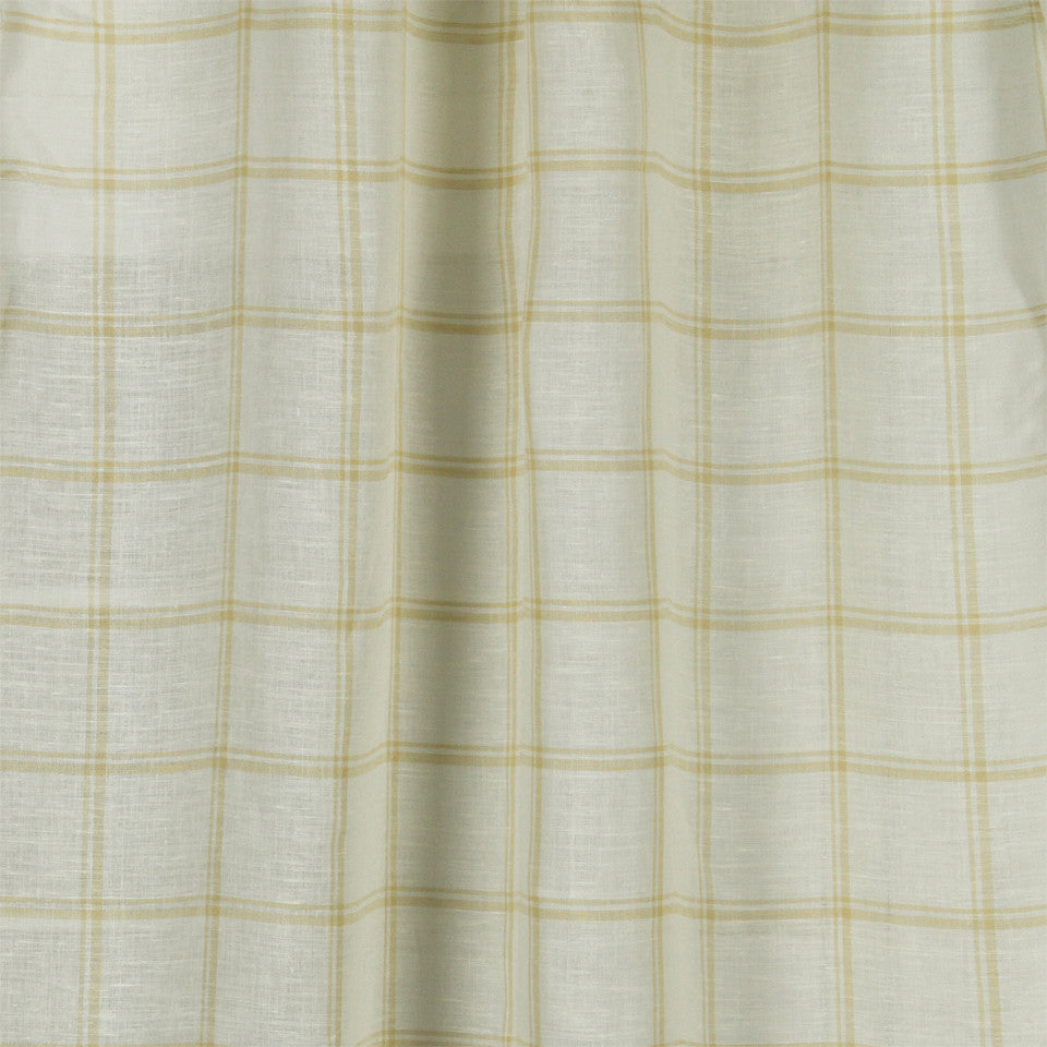 LINEN SHEERS STRIPES & PLAIDS Quiet Squares Fabric - Jasmine