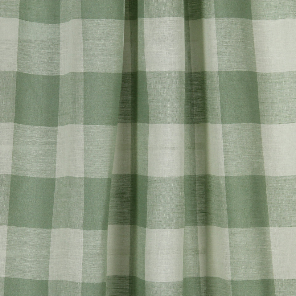 LINEN SHEERS STRIPES & PLAIDS Stitched Block Fabric - Capri