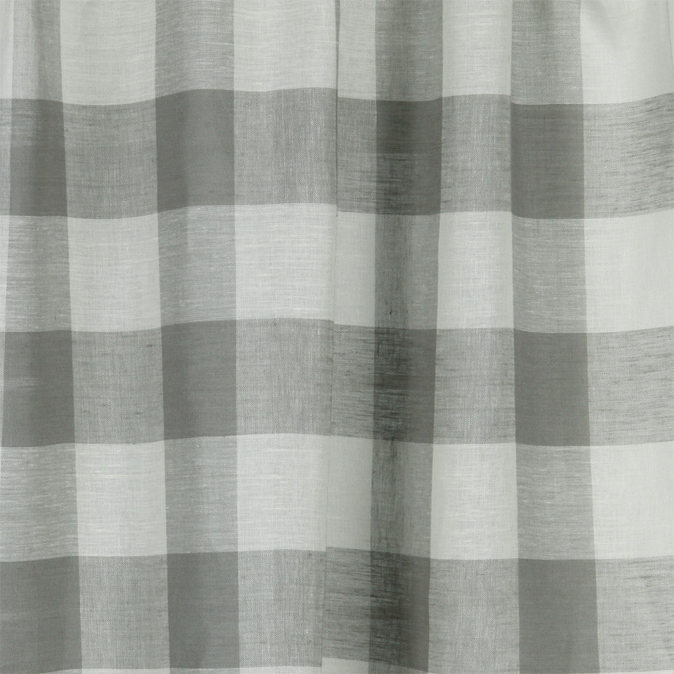 LINEN SHEERS STRIPES & PLAIDS Stitched Block Fabric - Smoke