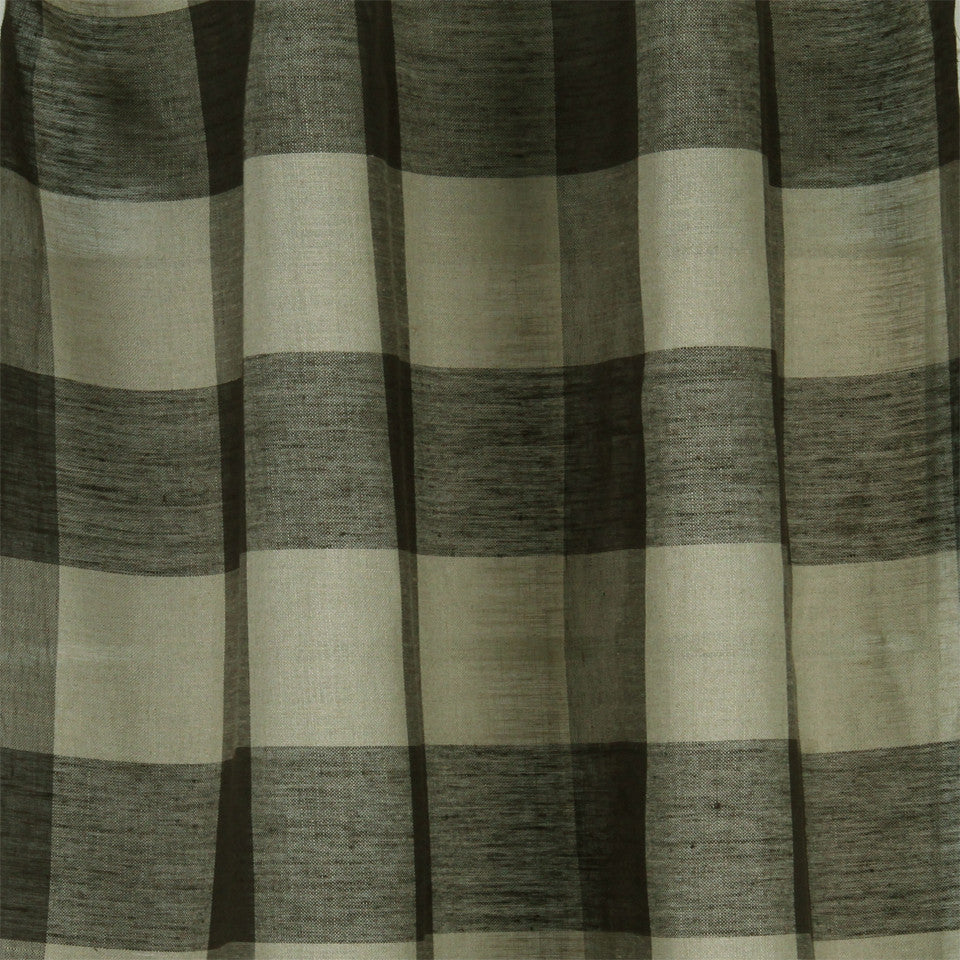 LINEN SHEERS STRIPES & PLAIDS Stitched Block Fabric - Twine