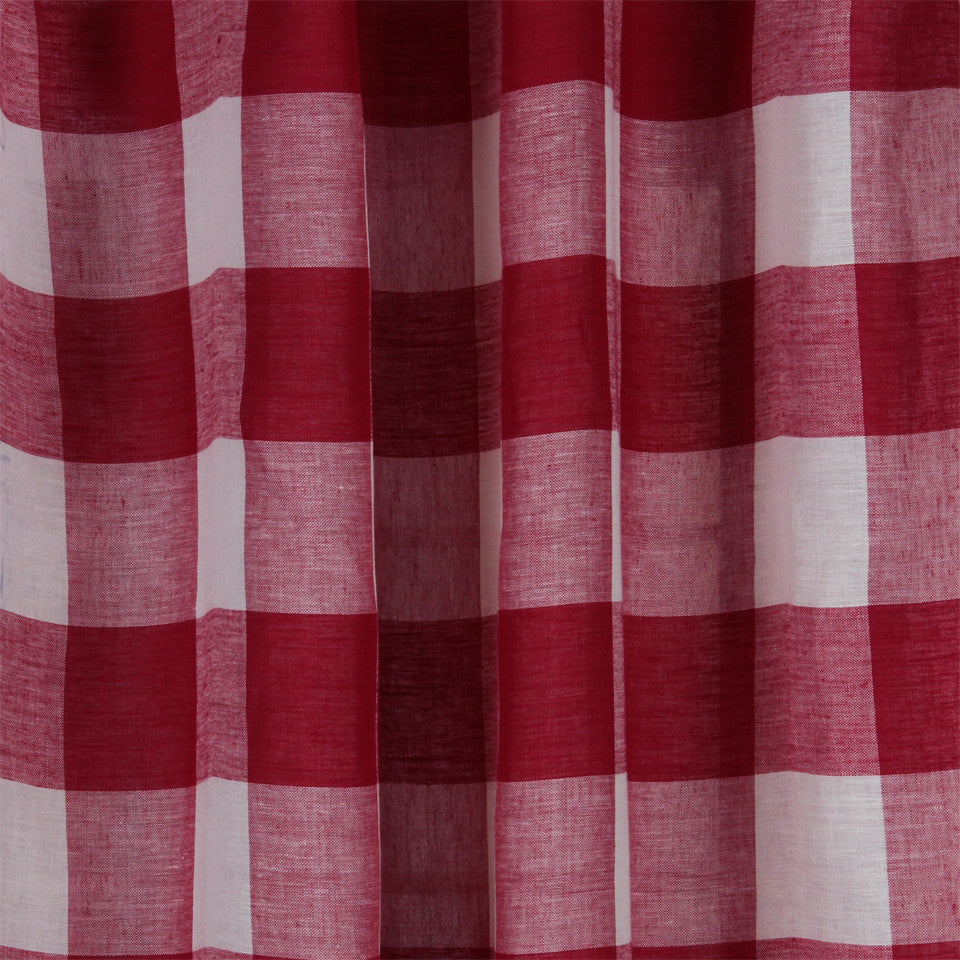 LINEN SHEERS STRIPES & PLAIDS Stitched Block Fabric - Fuchsia