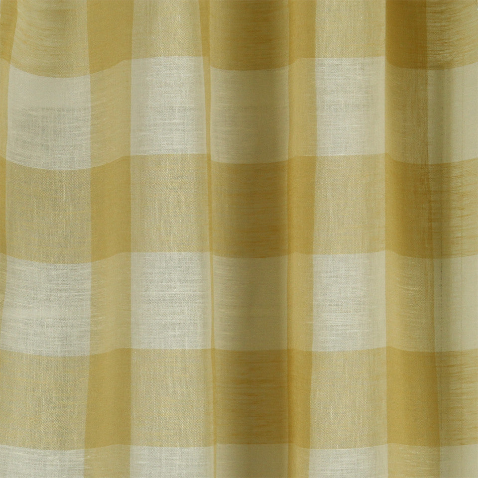 LINEN SHEERS STRIPES & PLAIDS Stitched Block Fabric - Jasmine
