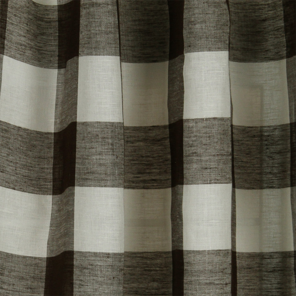 LINEN SHEERS STRIPES & PLAIDS Stitched Block Fabric - Earth