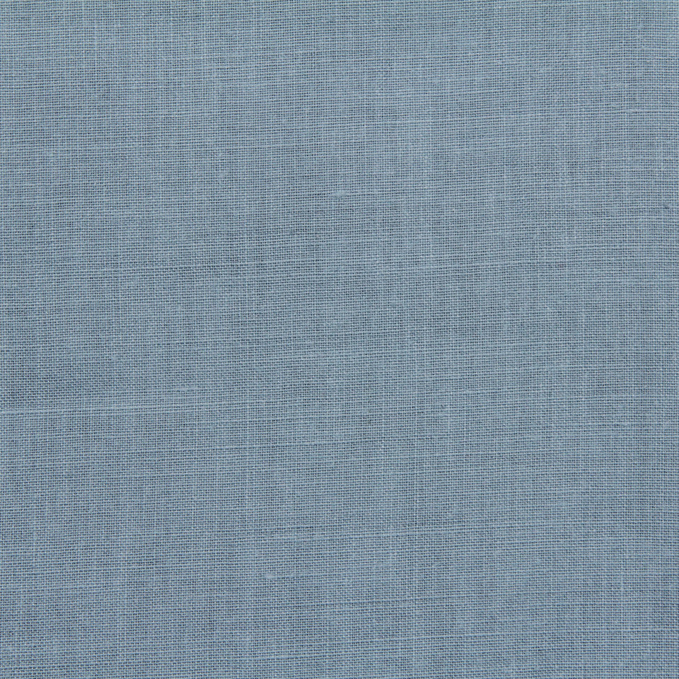 LINEN, WOOL AND CASHMERE SOLIDS Light Linen Fabric - Atlantic Blue