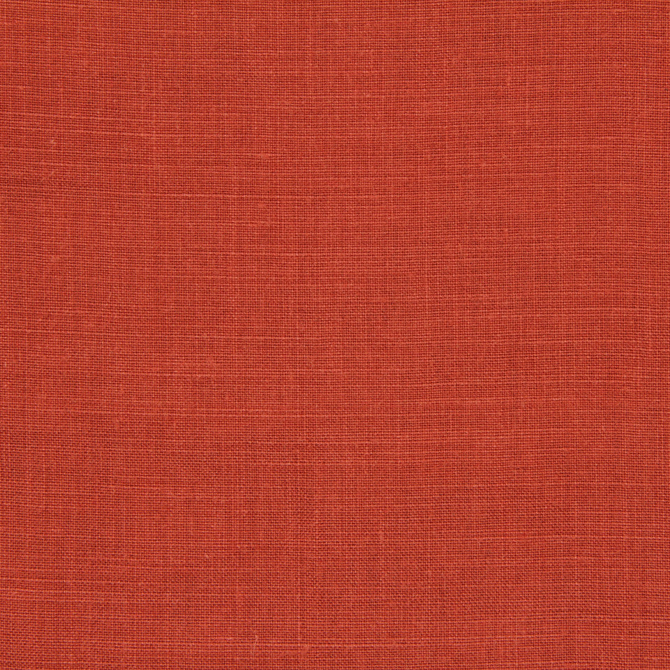 LINEN, WOOL AND CASHMERE SOLIDS Light Linen Fabric - Persimmon