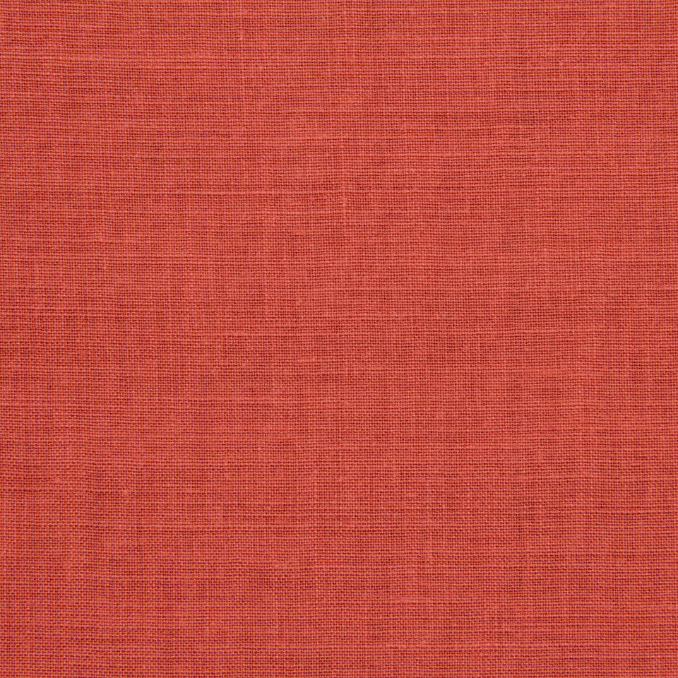 LINEN, WOOL AND CASHMERE SOLIDS Light Linen Fabric - Coral