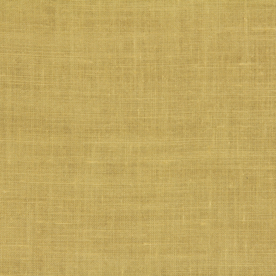 LINEN, WOOL AND CASHMERE SOLIDS Light Linen Fabric - Yellow Lotus