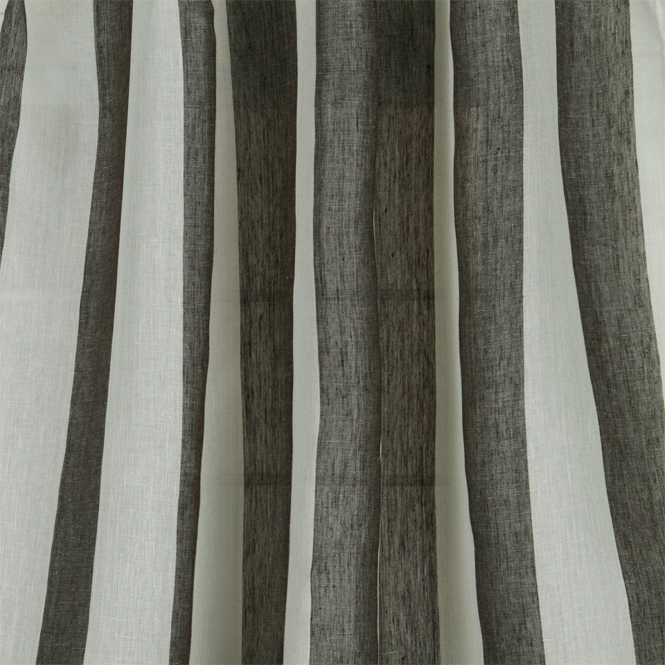 LINEN SHEERS STRIPES & PLAIDS Perfect Match Fabric - Earth