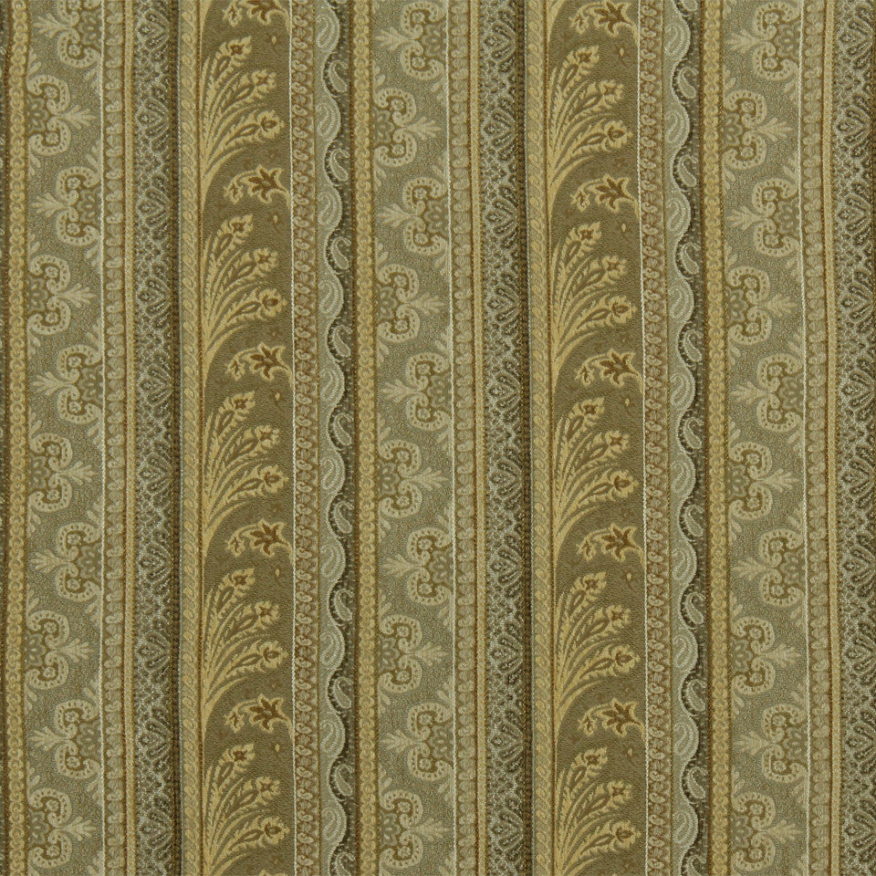 RUSTIC STRIPES AND PLAIDS UPH August Stripe Fabric - Bronze
