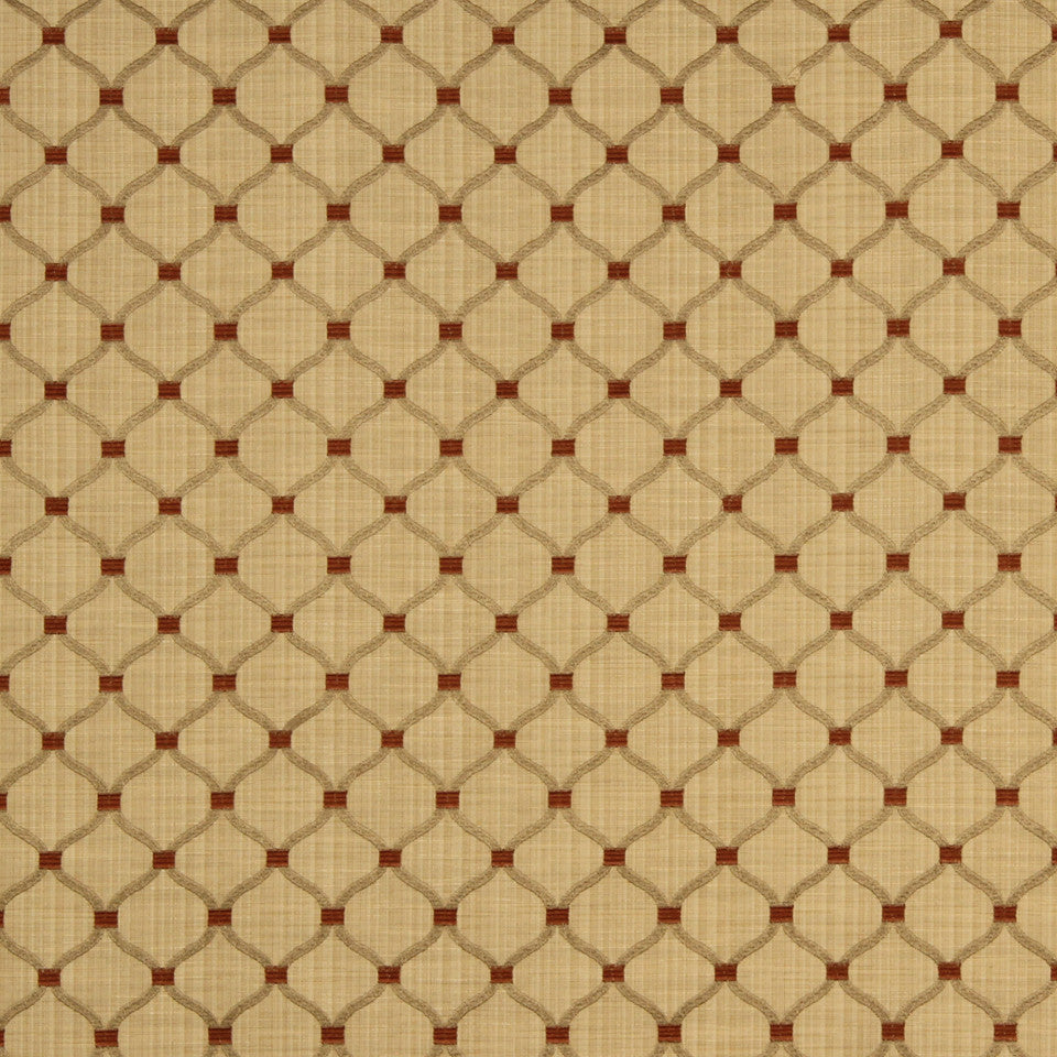 SAFFRON-AUBURN-SIENNA Quiet Splendor Fabric - Honeysuckle