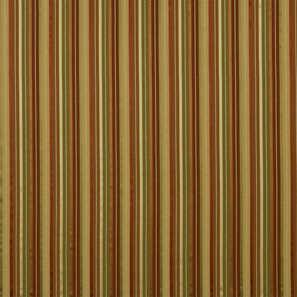 WARM Shiny Stripe Fabric - Sienna