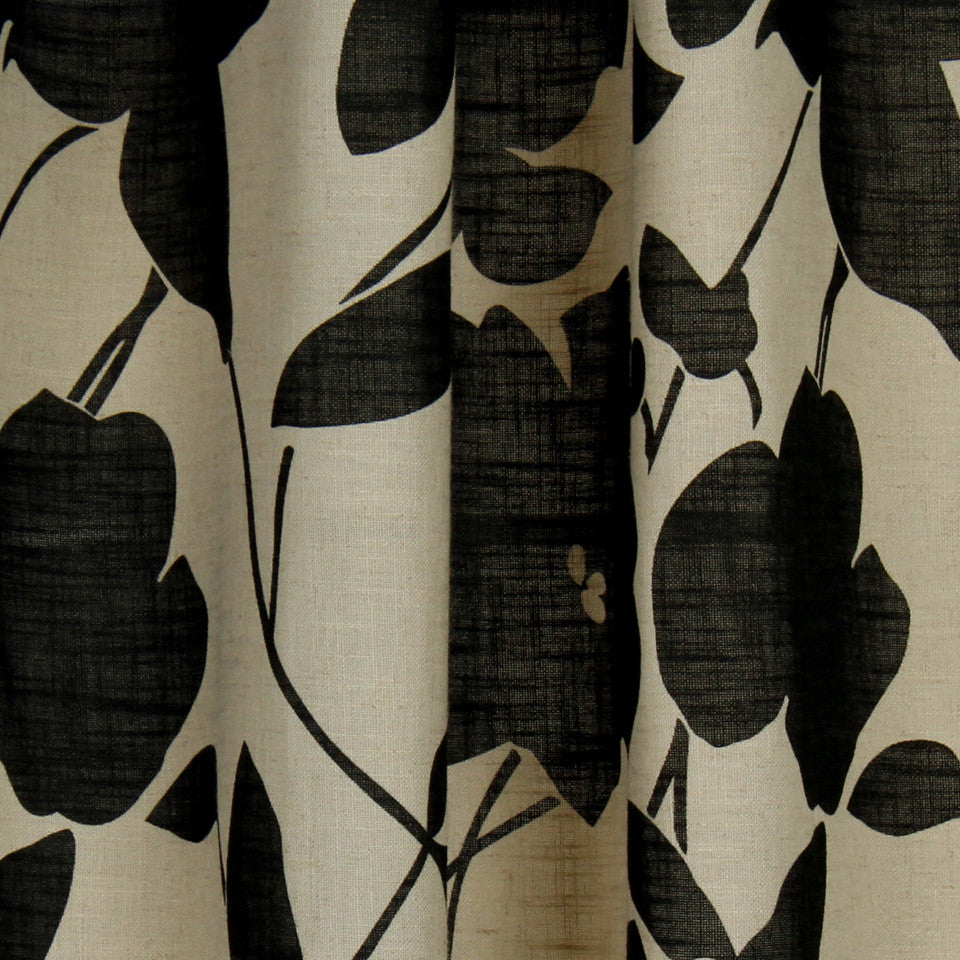 NATURAL SHEERS DARK NEUTRALS Floral Way Fabric - Peppercorn