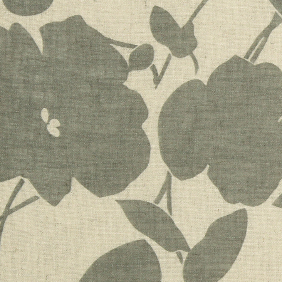 NATURAL SHEERS DARK NEUTRALS Floral Way Fabric - Dune