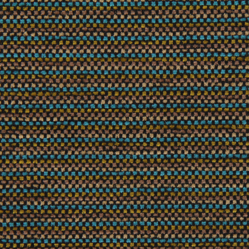MODERN Checked Lines Fabric - Aquatic