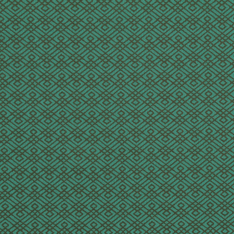 MODERN Walking Maze Fabric - Aquatic