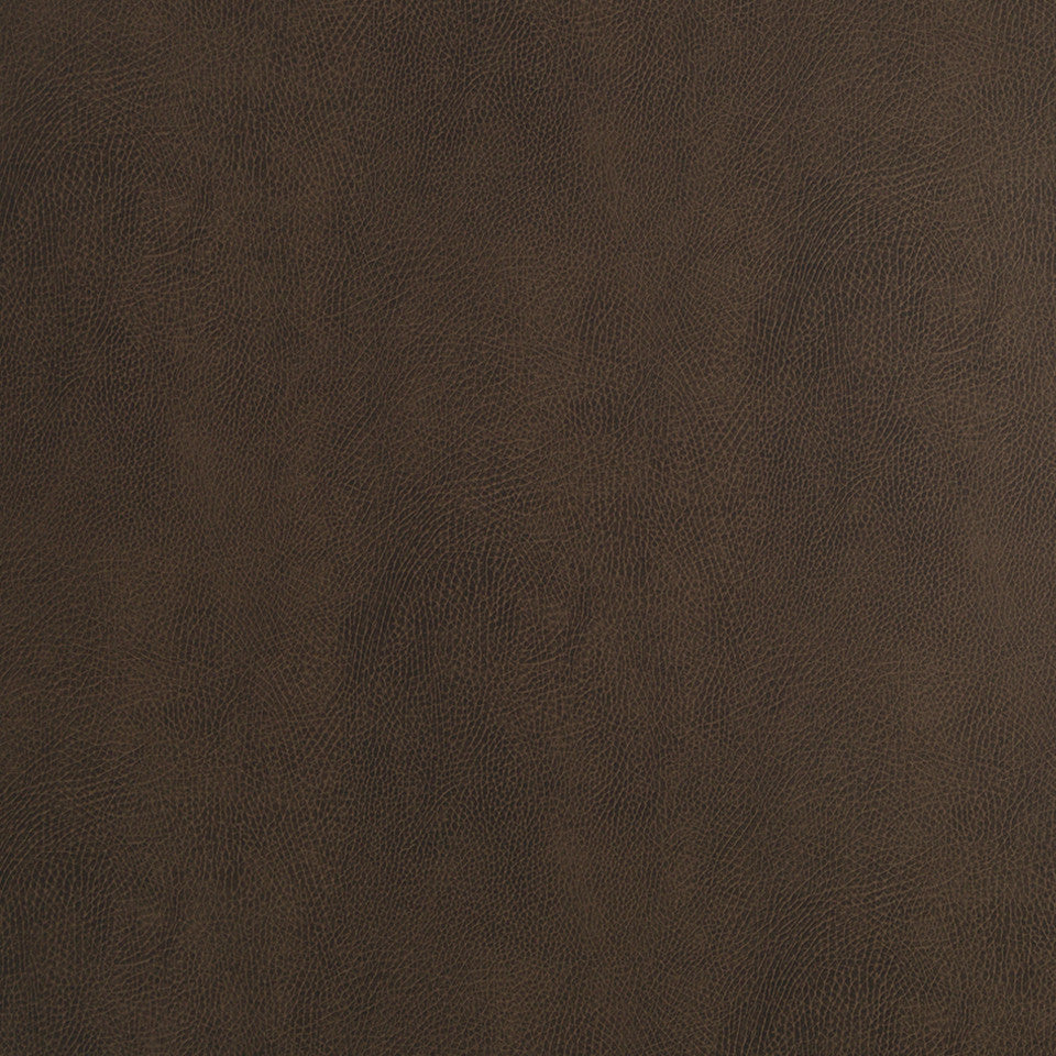 Faux Leather Textures Nubuckston Fabric - Dark Chocolate