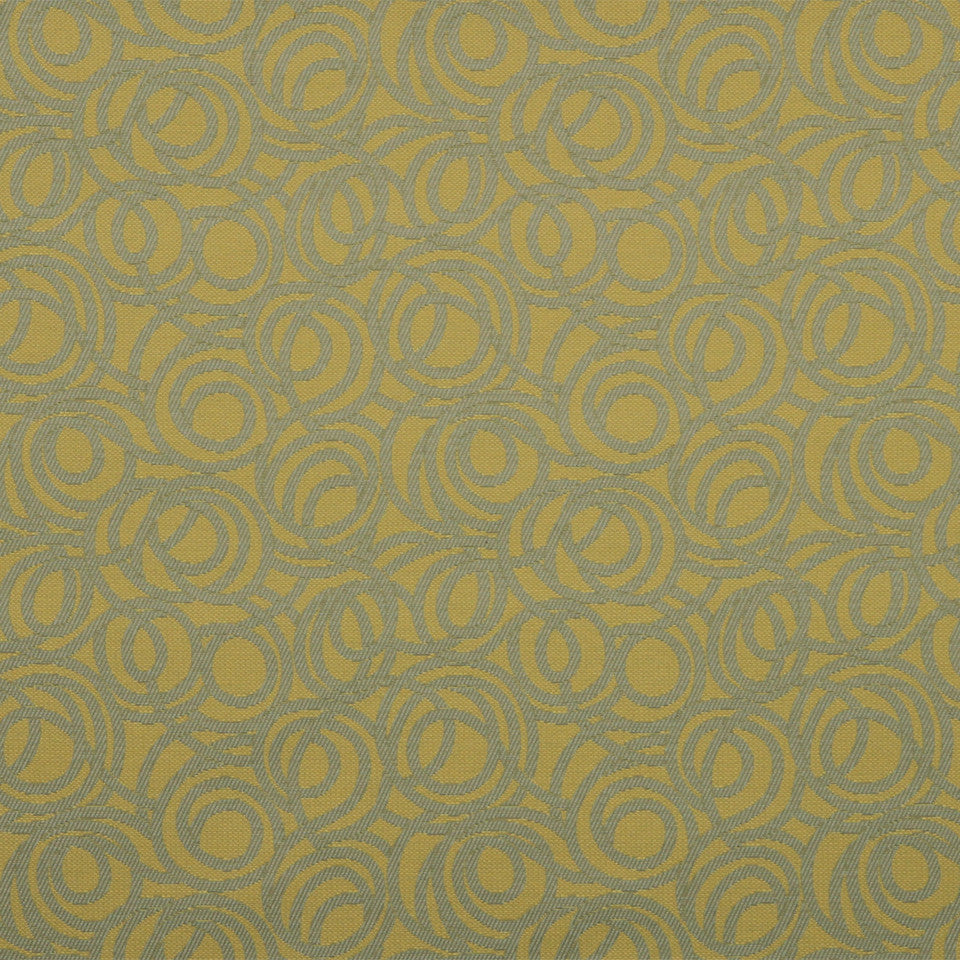 MODERN Tangled Path Fabric - Mustard