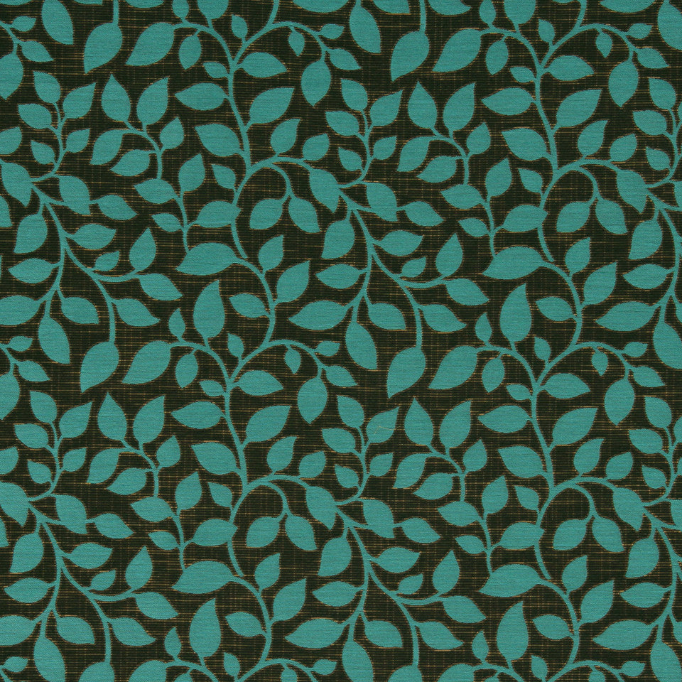 MODERN Swaying Vine Fabric - Aquatic