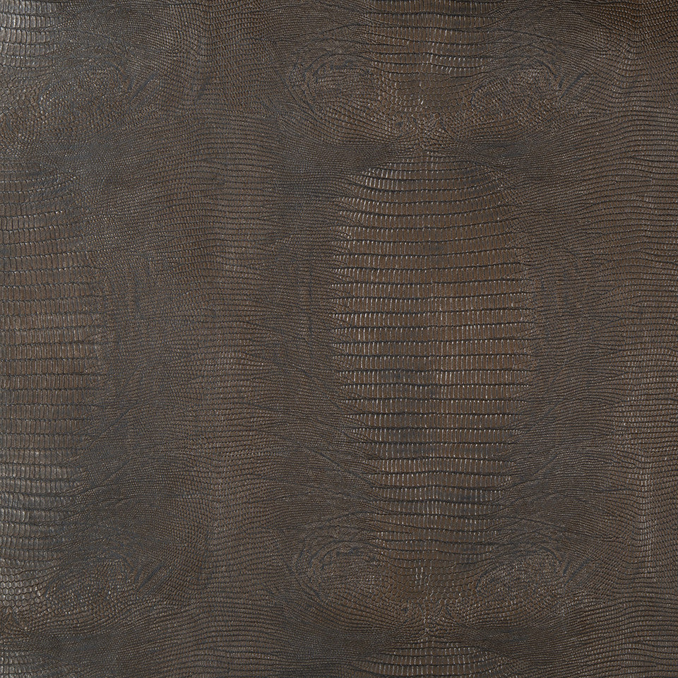 Faux Leather Textures Izzy Fabric - Dark Chocolate