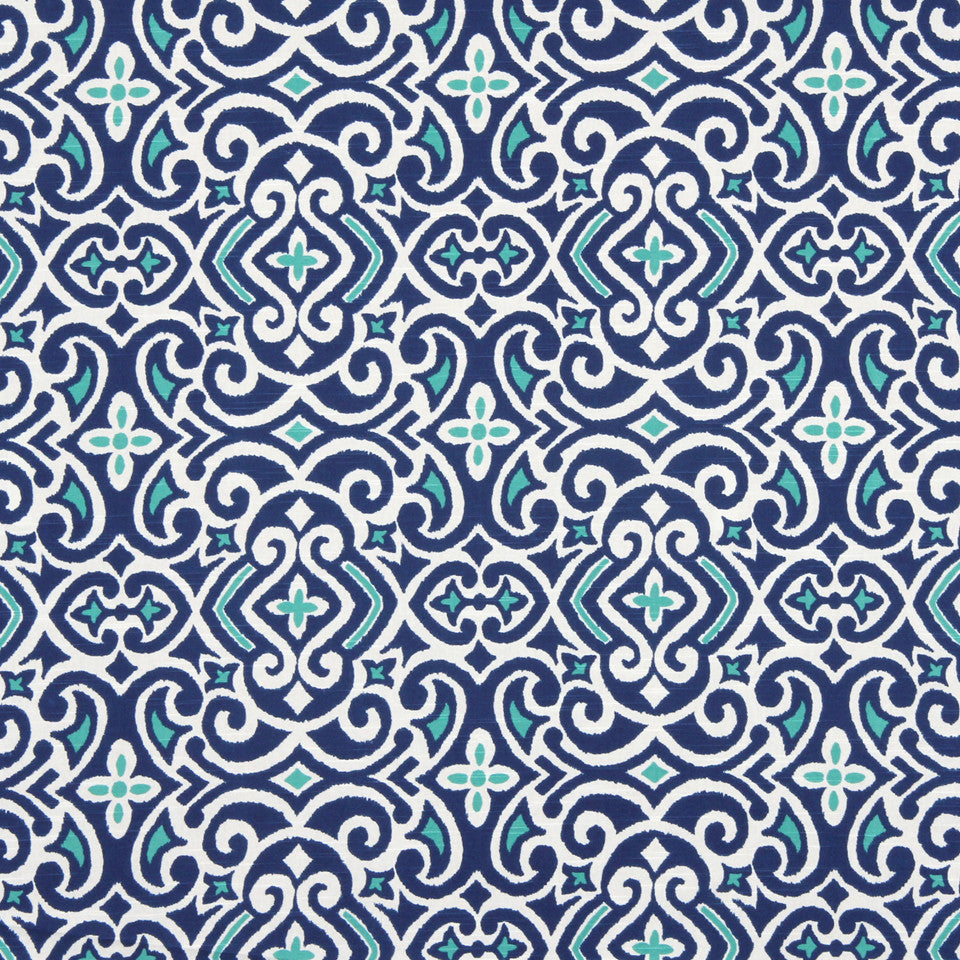 New Damask Fabric - Marine