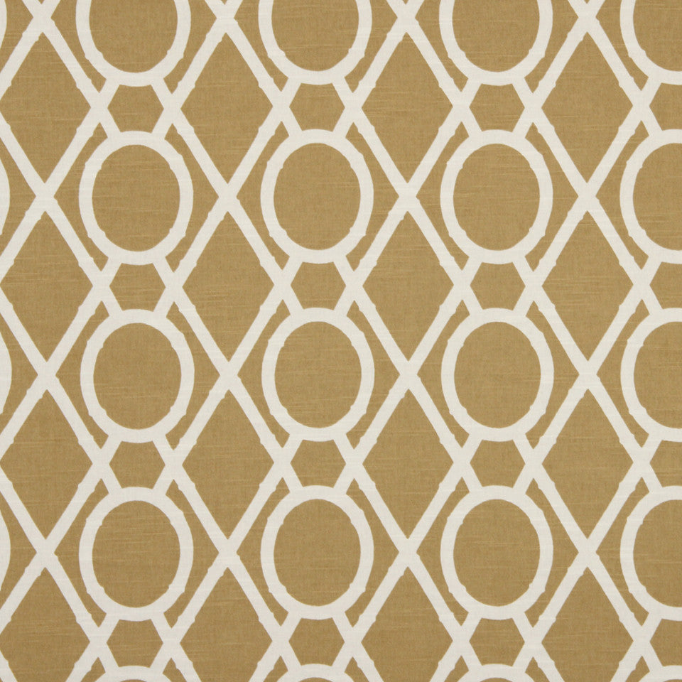 Lattice Bamboo Fabric - Amber