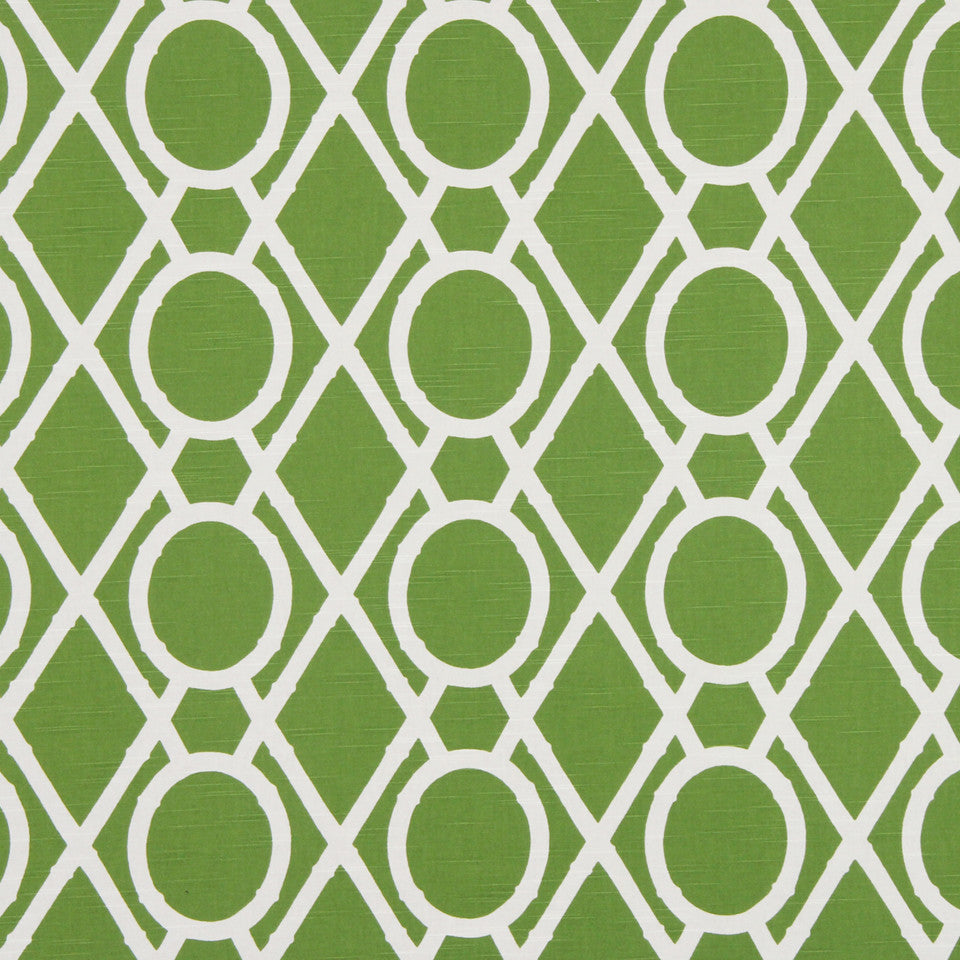 Lattice Bamboo Fabric - Leaf
