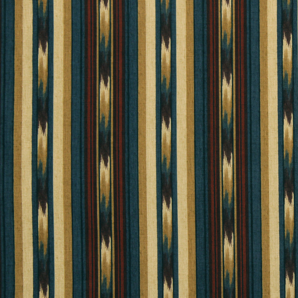 Ikat Stripe Fabric - Tabriz
