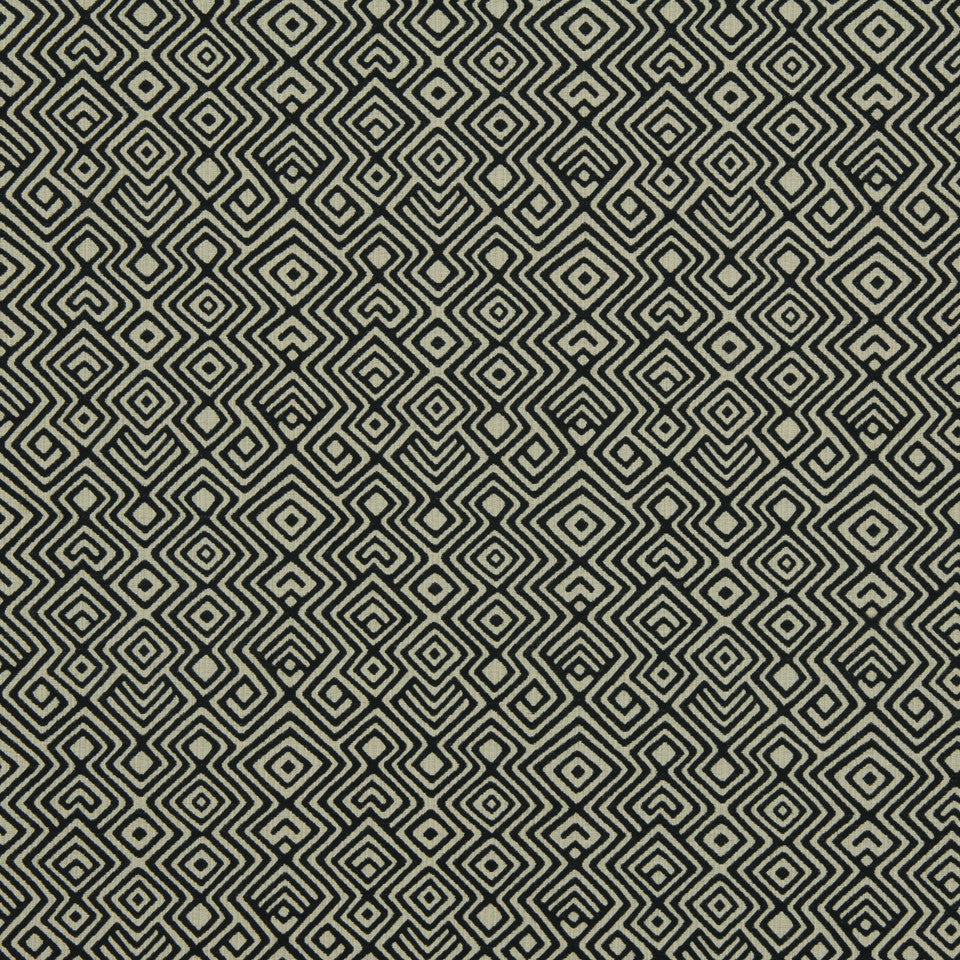 DWELLSTUDIO GLOBAL MODERN LUXE Asha Fabric - Kohl