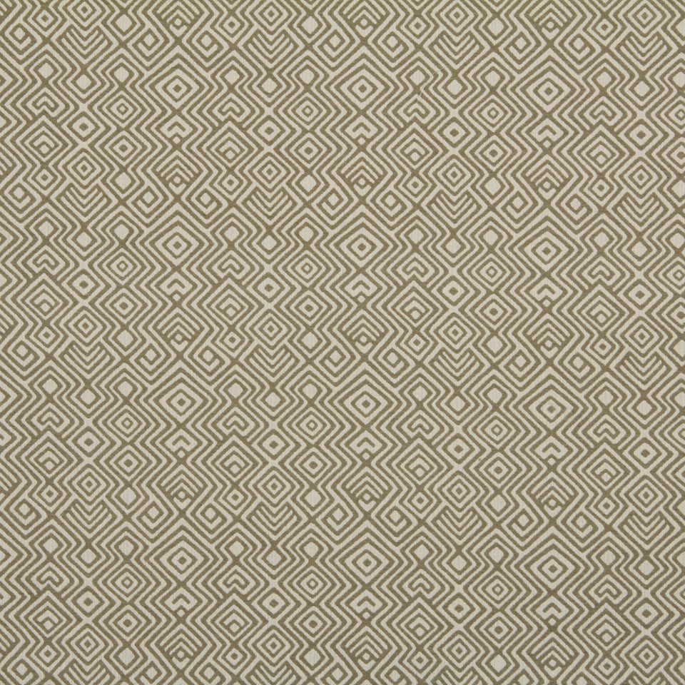 DWELLSTUDIO GLOBAL MODERN LUXE Asha Fabric - Toffee