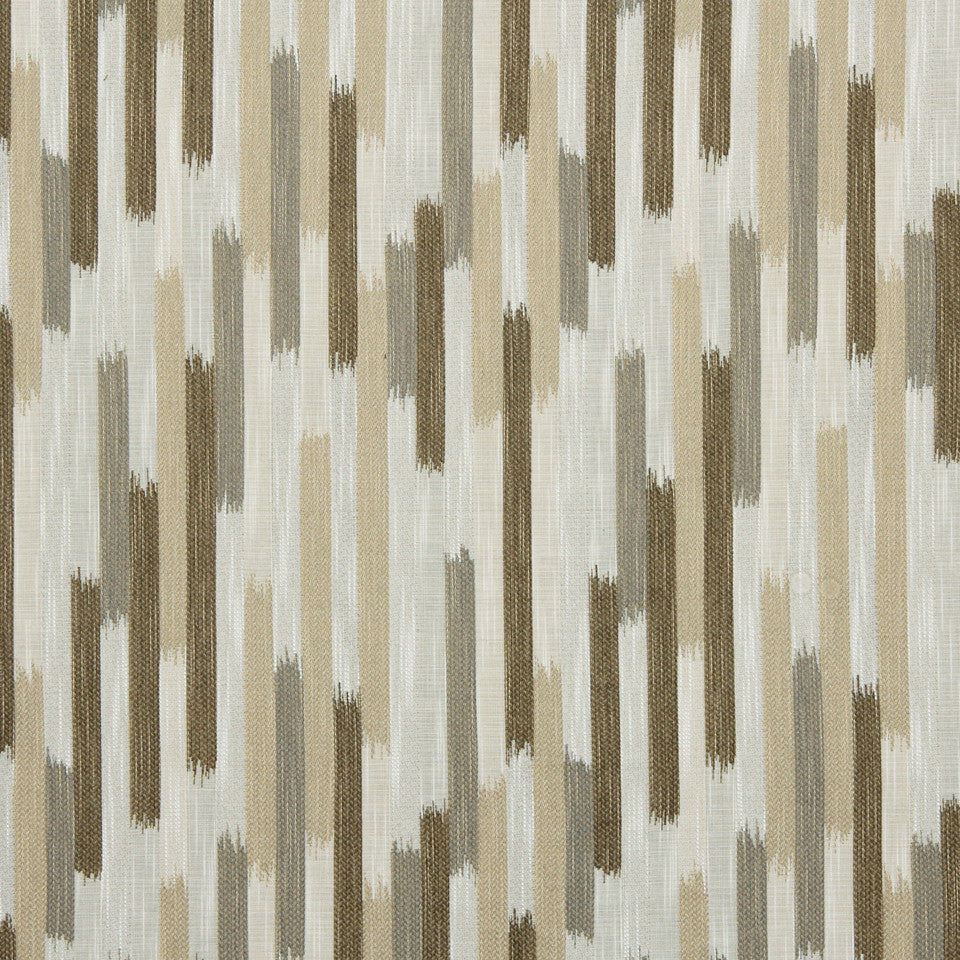 DWELLSTUDIO GLOBAL MODERN LUXE Ikat Blocks Fabric - Toffee