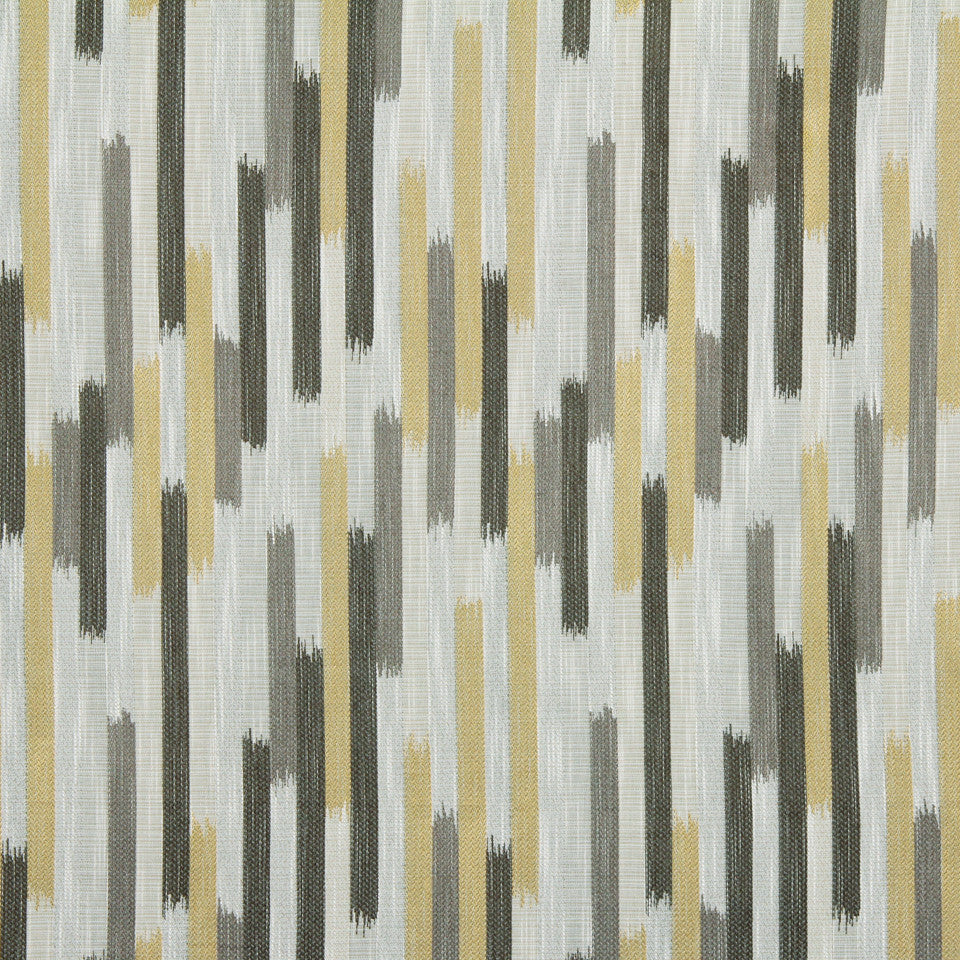 DWELLSTUDIO GLOBAL MODERN LUXE Ikat Blocks Fabric - Citrine