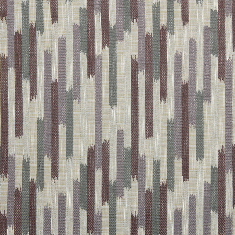 DWELLSTUDIO GLOBAL MODERN LUXE Ikat Blocks Fabric - Amethyst