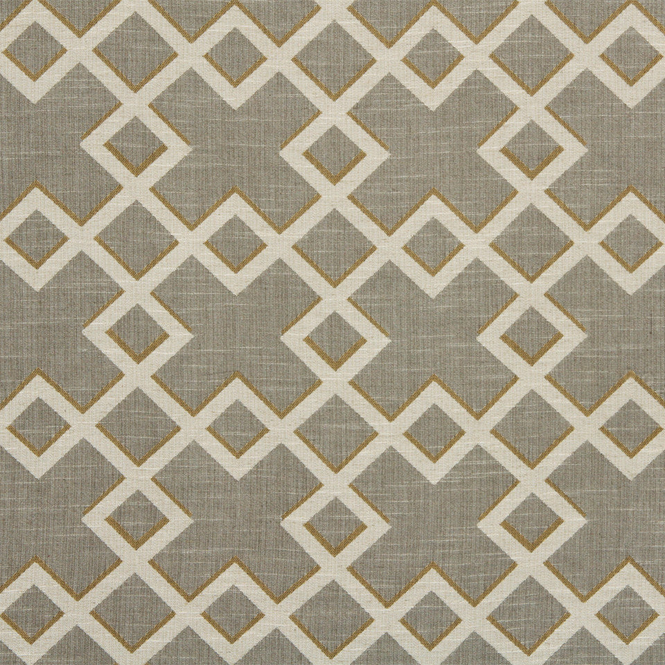 DWELLSTUDIO GLOBAL MODERN LUXE Shadow Trellis Fabric - Citrine