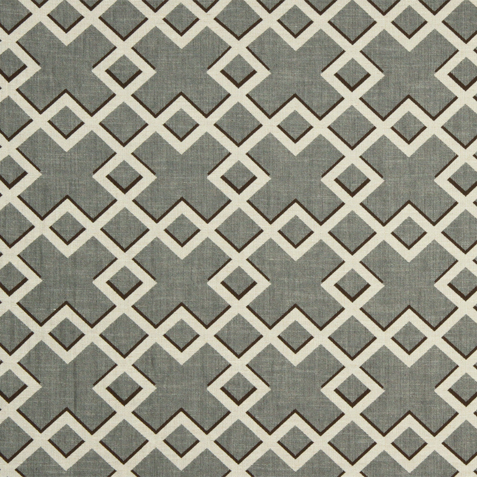 DWELLSTUDIO GLOBAL MODERN LUXE Shadow Trellis Fabric - Toffee