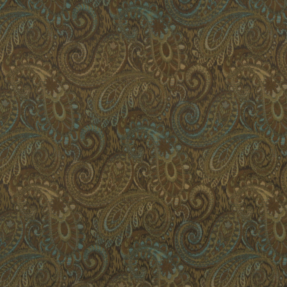 Tamil Paisley Fabric - Jewel